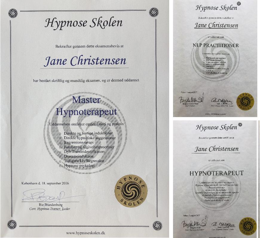 Beviser fra Hypnose Skolen